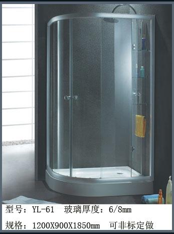 供应扇型淋浴房 卫生间屏封 卫生玻璃隔断 淋浴房推拉门