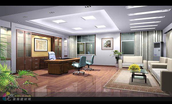 美图锦集 办公大厅装修效果图 济南惠民建筑装饰设计工程