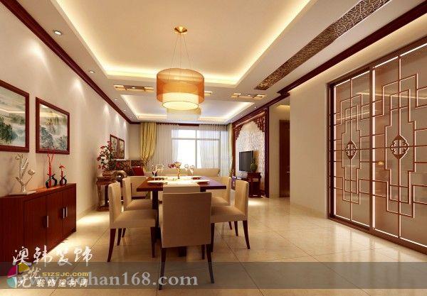 盘龙居小区新中式风格复式楼装修 作品 效果图,实景图,样板间,建